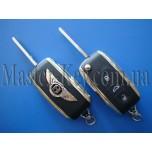 Bentley выкидной ключ (корпус), 3 кнопки, лезвие HU66