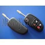 Jaguar XJ, XJR, X-Type S-Type выкидной ключ, 4 кнопки, с чипом ID60,  434 Mhz