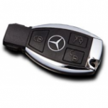 Ключ Mercedes smart key 3 кнопки, с чипом NEC, 433Mhz ORIGINAL Made in Germany