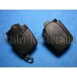 VOLKSWAGEN выкидной ключ (корпус - верхняя часть), 2 кнопки
