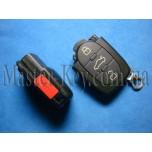 VOLKSWAGEN выкидной ключ (корпус - верхняя часть), 3  кнопки + 1 кнопка (Panic)